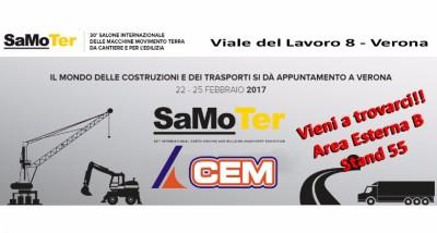 CEM ESPONE AL SAMOTER, SALONE INTERNAZIONALE TRIENNALE DELLE MACCHINE MOVIMENTO TERRA